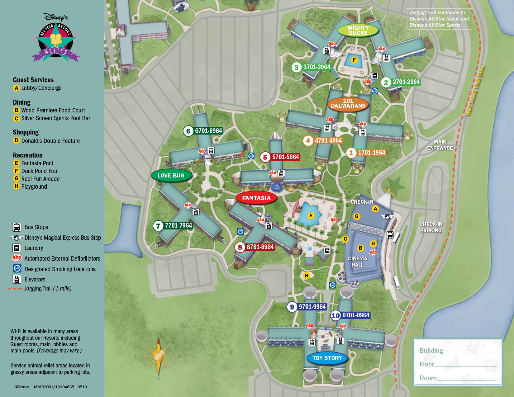 All Star Movies Resort Map Walt Disney World