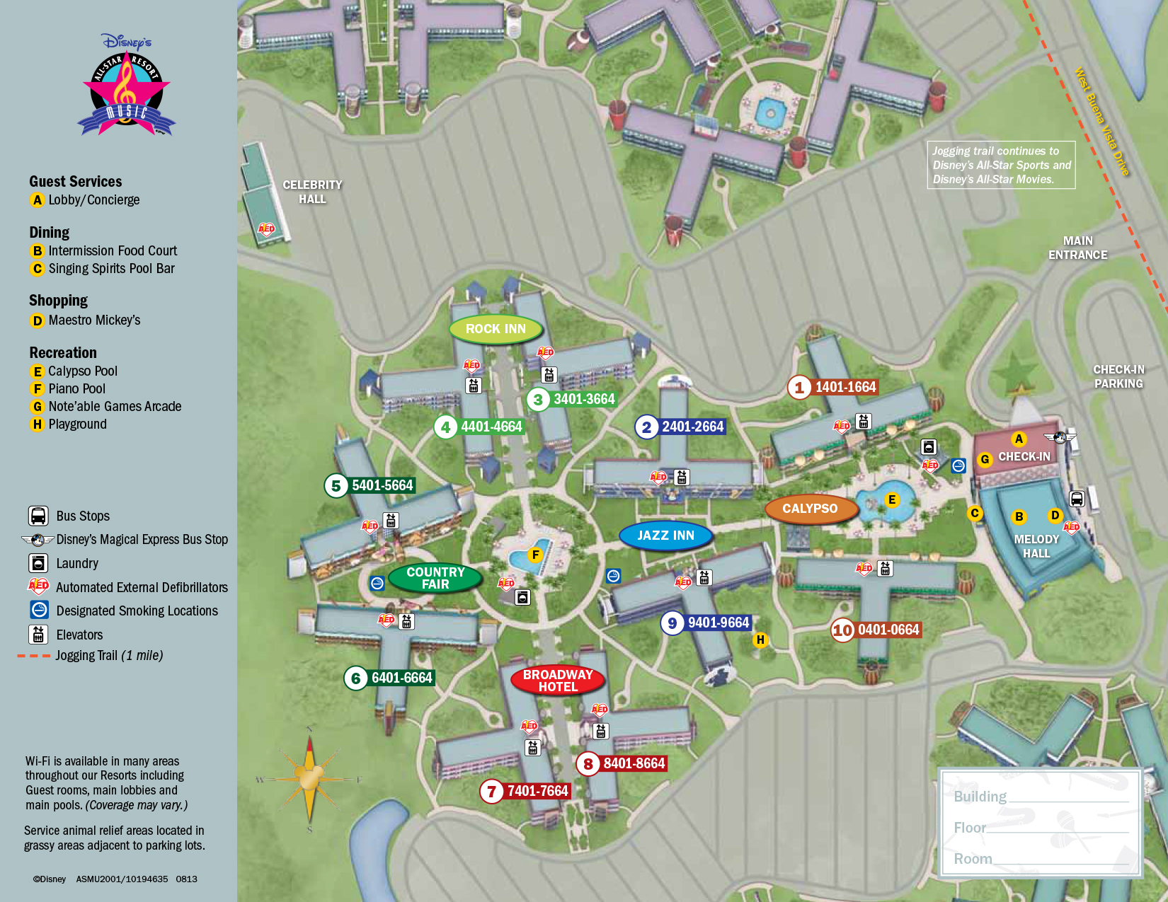 All Star Music Resort Map | KennythePirate.com Disney Resort Map Orlando on