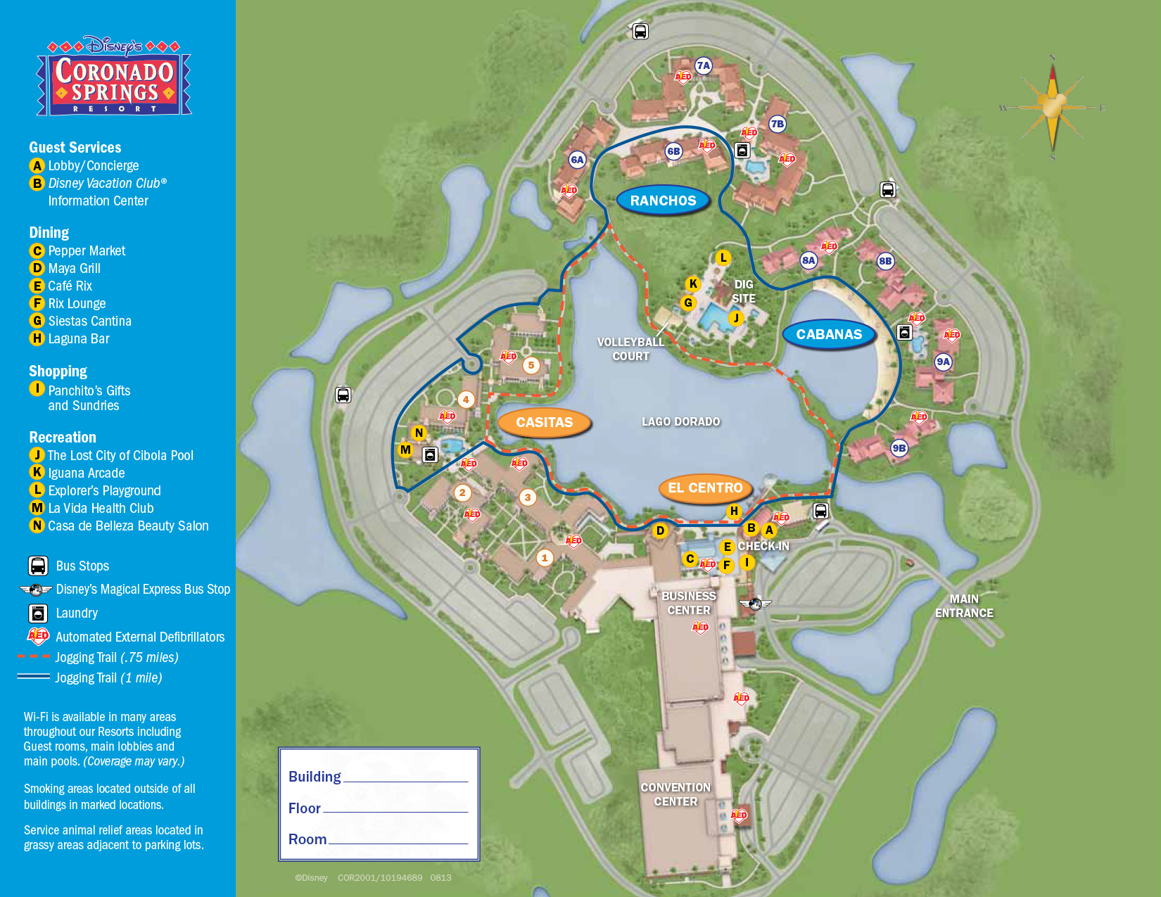 Coronado Springs Resort Map Walt Disney World