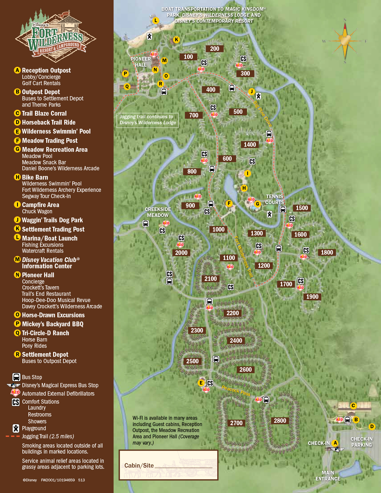 Fort Wilderness Resort Map Walt Disney World