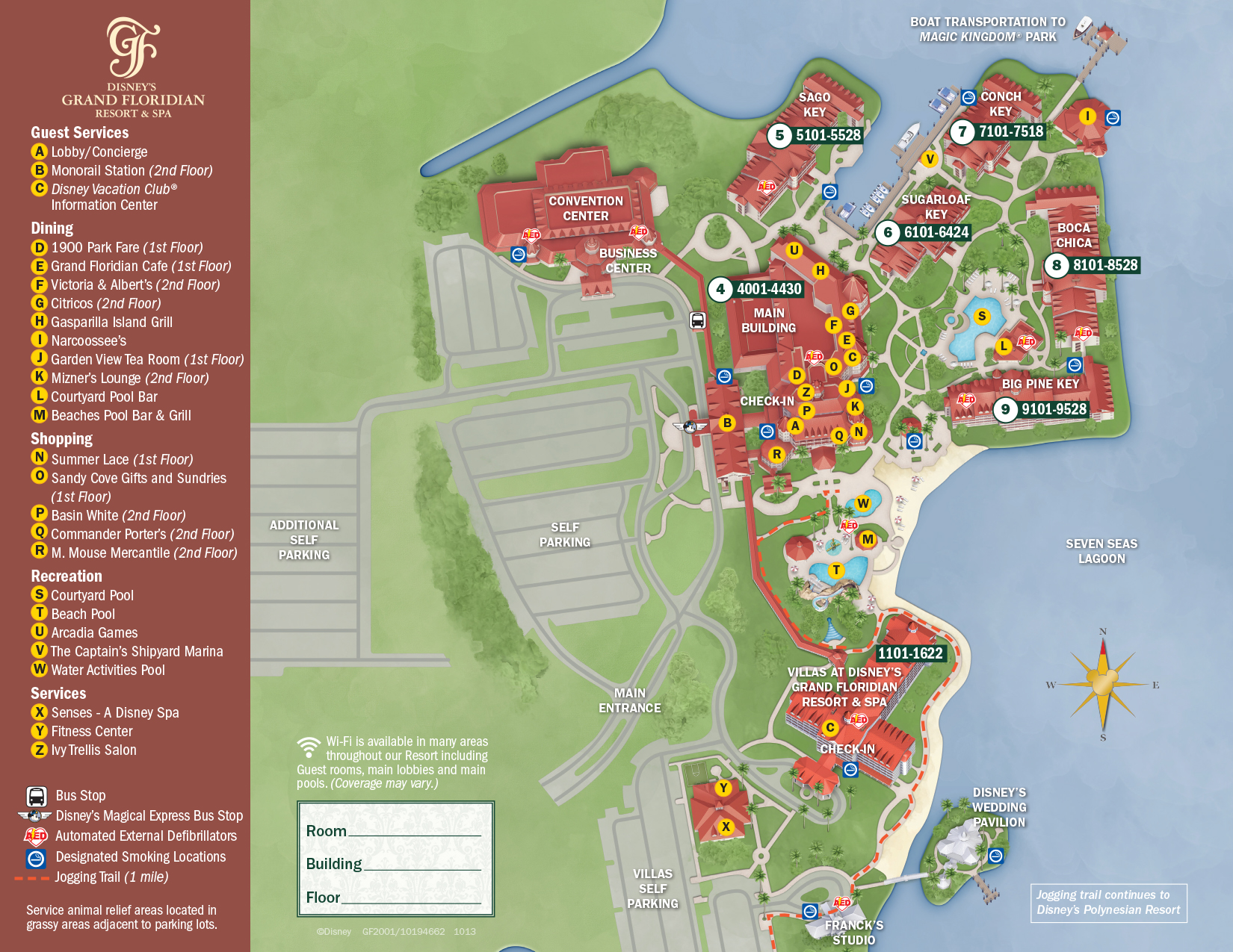Grand Floridian Resort Map Walt Disney World