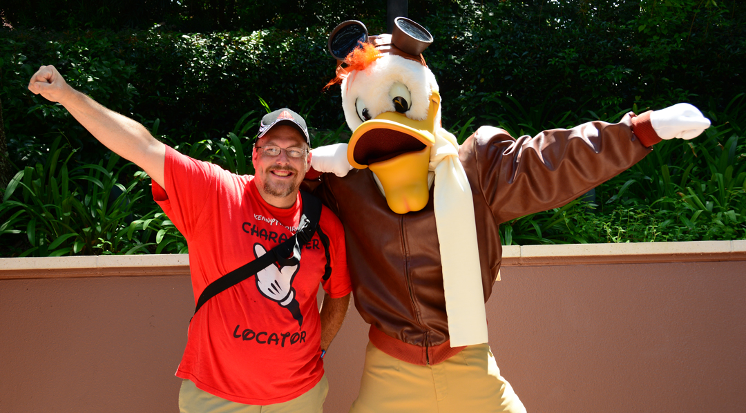 Launchpad McQuack appears for Epcot Training