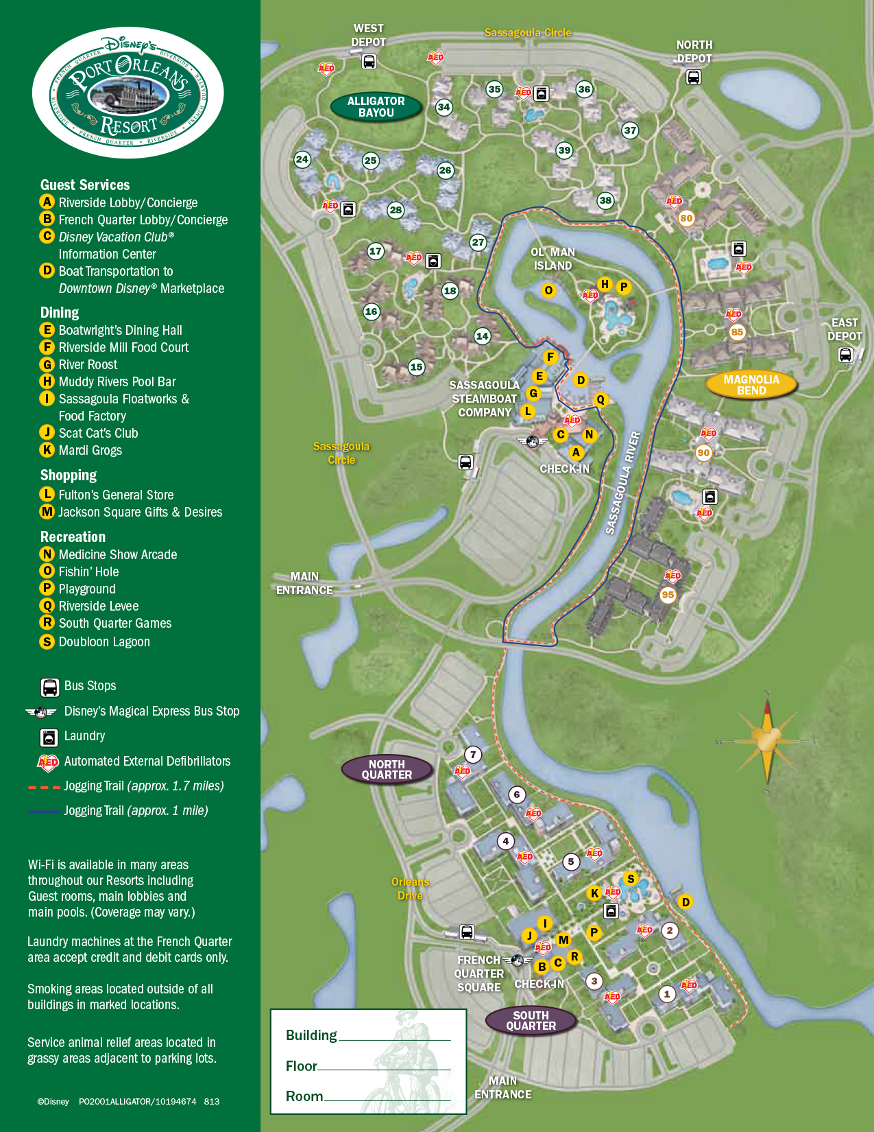 Port Orleans Riverside Resort Map | KennythePirate.com on