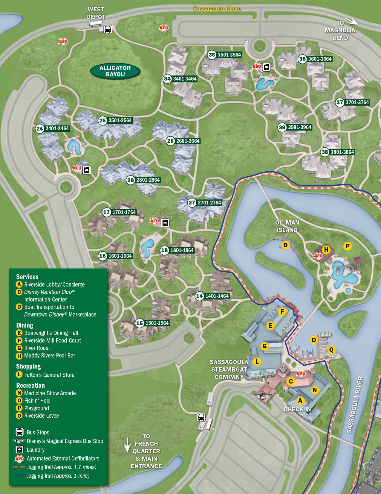 PPort Orleans Riverside Resort Map Walt Disney World