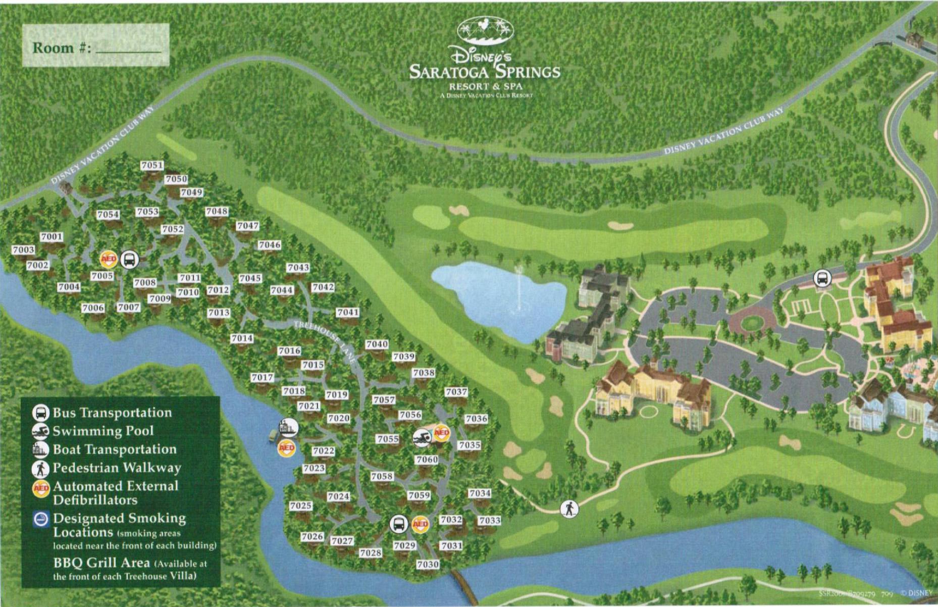 Saratoga Springs Resort Treehouse Map Walt Disney World