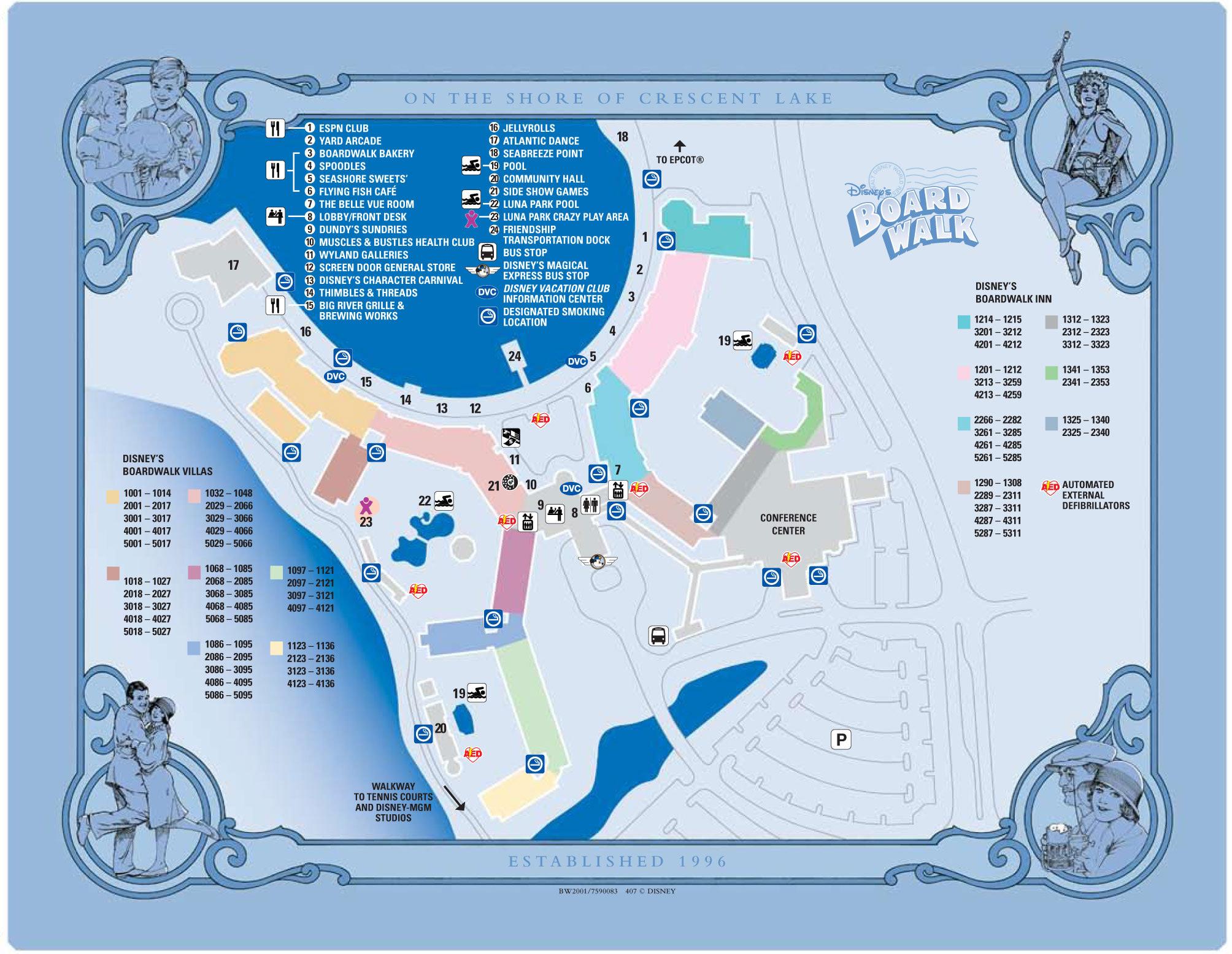 Boardwalk Resort Map Walt Disney World