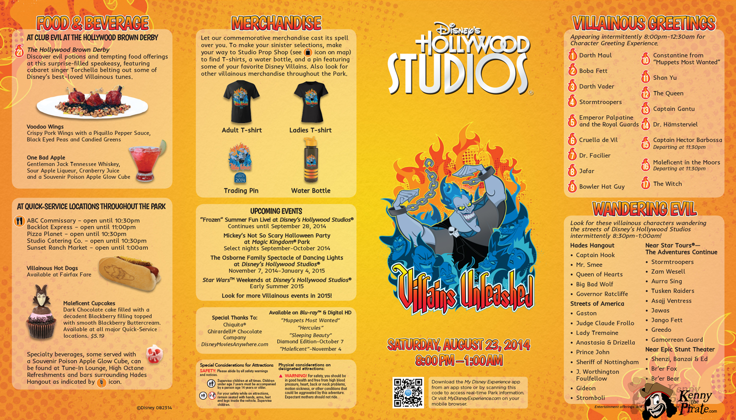 Villains Unleashed Map Hollywood Studios